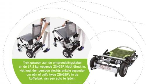 zinger elektrische rolstoel opvouwen